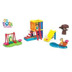 Mega Bloks Dora The Explorer   Big Backyard Adventures Toys & Games