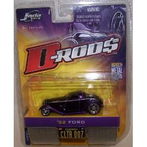 Jada Toys 1/64 Scale Diecast D rods 1932 Ford in Color