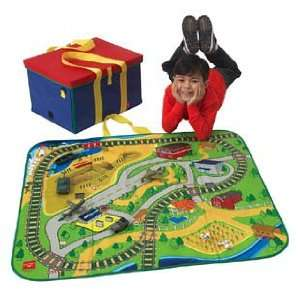 ZipBin Toy Bin and Play Mat Road & Rail: Toys & Games