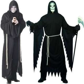 Mens Halloween Grim Reaper Fancy Dress Costume  2 Sizes