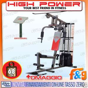 Panca pesi palestra multifunzione HIGH POWER ST 1900 NW