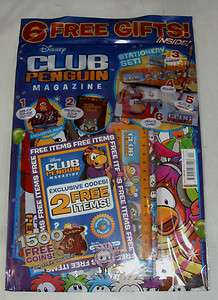 Club Penguin magazine Issue #4 : 6 free gifts :stationary set,2 items