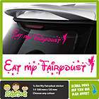 EAT MY FAIRYDUST tinkerbell car sticker ANY COLOUR