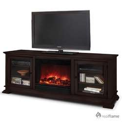 Real Flame Elise Electric Fireplace in Antique White   6800E AW