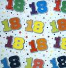 sheets 18th birthday gift wrapping paper wrap unisex