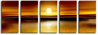 ea CANVAS ARTWORK  BROWN/ORANGE 5 SET CANVAS PRINT AU