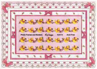 NRN Stickers   Frames & Borders   BABY GIRL Ducks Bows