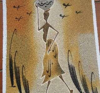 Cuadros temática africana de arena del desierto. (11900365)