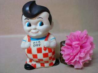 Vintage Bobs Big Boy Collectible Coin Money Bank Hard Vinyl Plastic