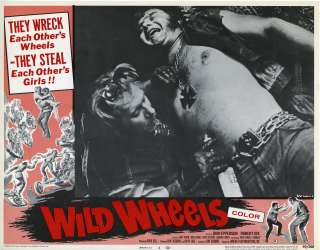 WILD WHEELS (1969) Lobby Card Set VF+ MOTORCYCLE GANG!