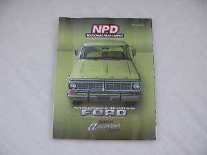 NPD National Parts Depot 1948 1979 Ford F150 Truck Book