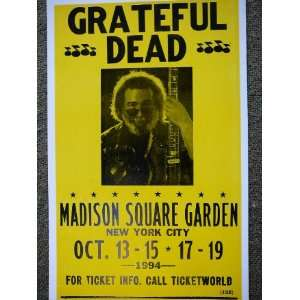 Grateful Dead Jerry Garcia New York City Poster