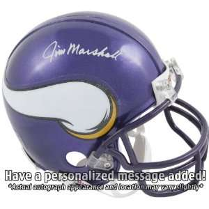 Jim Marshall Minnesota Vikings Personalized Autographed