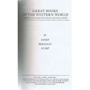 , Berkeley, Hume (Great Books of the Western World, Vol. 35) John