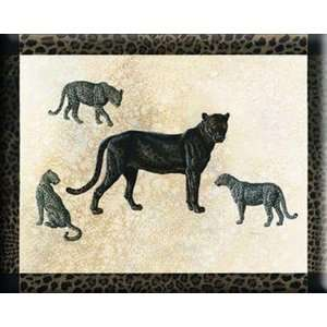 Judith Gibson STRETCHED CANVAS Art 20x26 Black Leopard