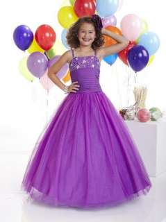 TIFFANY PRINCESS 13307 size 12 Amethyst GIRLS NATIONAL PAGEANT DRESS