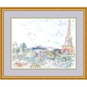 com The Eiffel Tower by Raoul Dufy   Framed Artwork Home & Kitchen