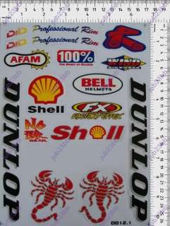 HELMET ENDURO WHITE MOTORCYCLE 46 RACING STICKER DECAL