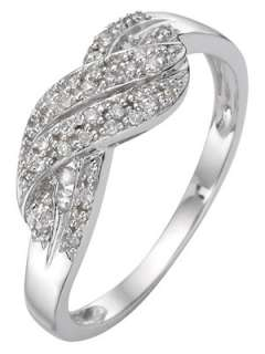 carat white gold diamond crossover ring Very.co.uk