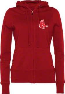 Boston Red Sox Womens Dark Red Signature Full Zip Hooded Sweatshirt