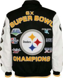 Pittsburgh Steelers Full Zip Commemorative Wool Varsity Jacket
