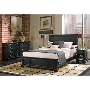 Home Styles Bedford Queen Bed and Nightstand