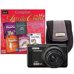 Olympus VR 320 14MP, 12.5X Optical Zoom Digital Camera Bundle   Black
