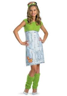 Teen Girls Oscar the Grouch Costume   Sesame Street Costumes for Teens