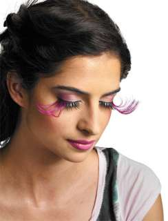 Purple And Black Feather Eyelashes   Costume Accessories