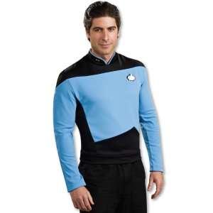 Star Trek The Next Generation Deluxe Blue Shirt Adult Costume, 60275