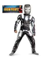 Boys Classic Muscle Iron Man 2 War Machi   ironman2costumes   static