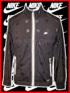 Nike Black Retro Tracksuit Top Jacket Coat S M L XL