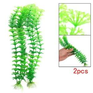 Green Plastic Water Grass Fish Tank Aquarium Decoration: Pet Supplies
