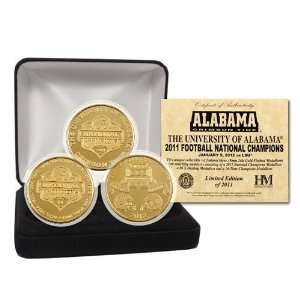 NCAA Alabama Crimson Tide 2011 BCS National Champions 24kt
