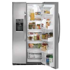 25.9 Cu. Ft. Stainless Steel Side By Side Refrigerator Kitchen