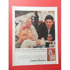 Calvert Reserve whiskey.,1959 print advertisement (2 men