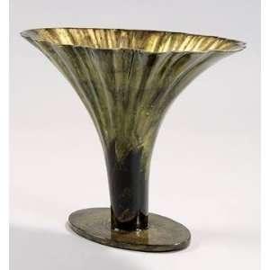 PC5812   Hand Finished Vase in Antique Gold Leaf