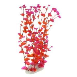 Como Orange Red Aquarium Tank Lifelike Plastic Aquatic