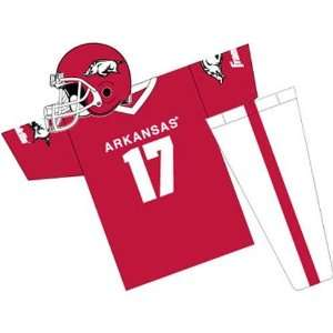 Arkansas Razorbacks Youth NCAA Team Helmet and Uniform Set (Small