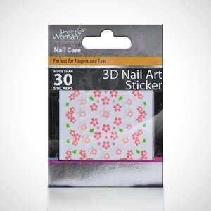 Pretty Woman Decorative 3D Nail Sticker   Pink Flowers