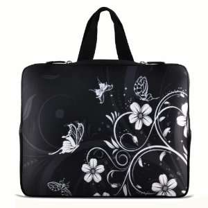 Black and white Flower 14 14.4 inch Notebook Laptop Case