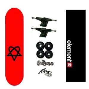 Bam Heartagram Pro HIM Skateboard Complete w/ Element Grip: