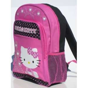 Hello Kitty Sanrio Large Pink & Black Backpack Toys