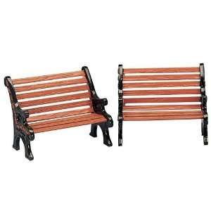 Village Collection Set Of 2 Park Benches #34895