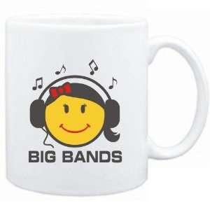 Mug White  Big Bands   female smiley  Music Sports