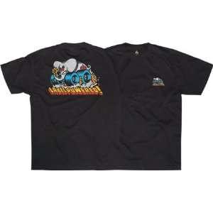 Black Label Powered Skateboard T Shirt [Large] Black