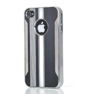 Black & White Brushed Chrome Aluminum Hard Case Cover,Stylus Pen