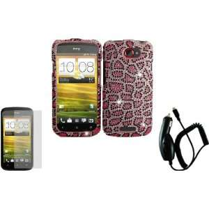 Pink Leopard Full Diamond Bling Case Cover+LCD Screen