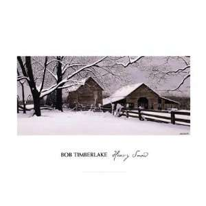 Heavy Snow by Bob Timberlake 24x16:  Kitchen & Dining