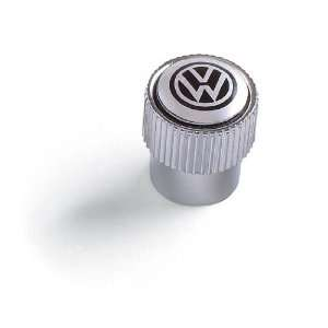Volkswagen Black Logo Chrome Tire Stem Valve Caps Automotive